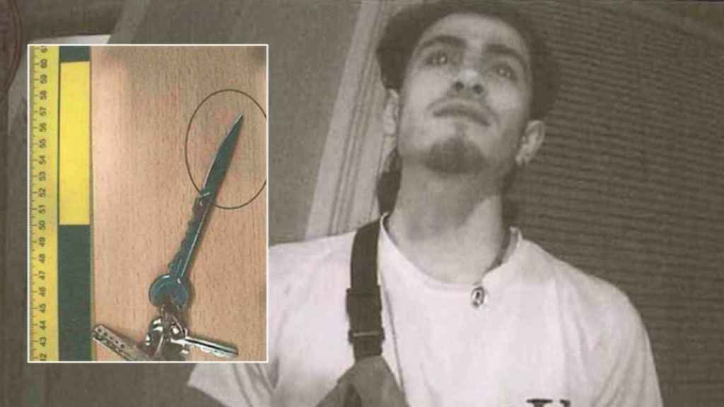 La llave-navaja del asesinato de Jumilla y Kevin al ser requerido por las Fuerzas de Seguridad para identificarse.