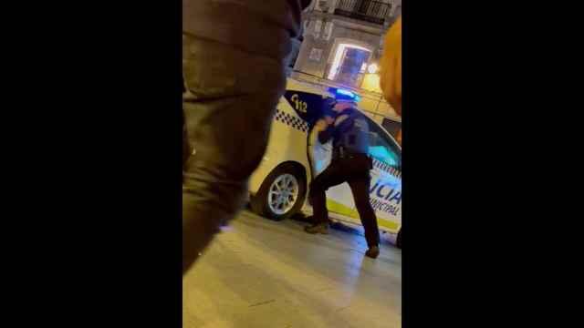 Detención policial en Madrid