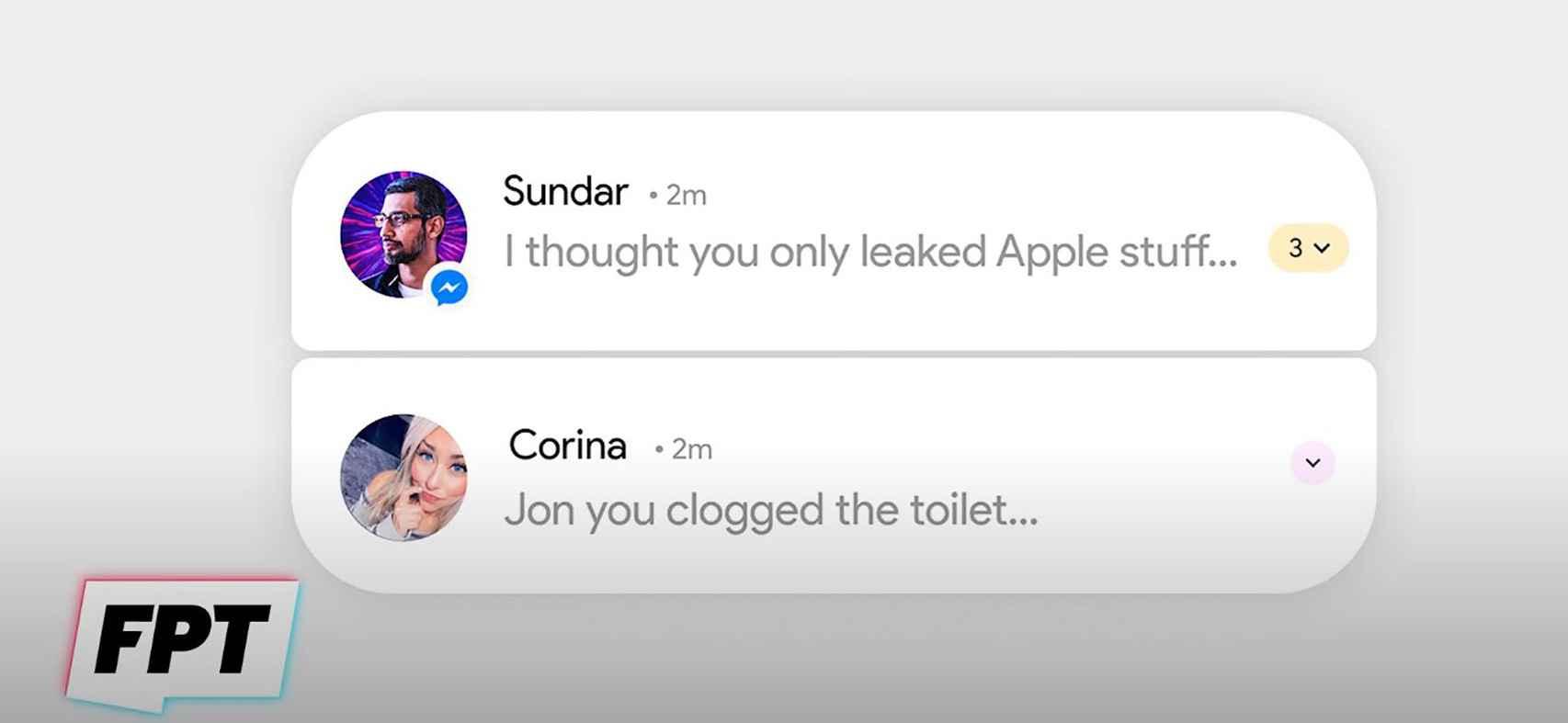 Esquinas redondeadas en las notificaciones en Android 12