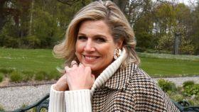 Máxima de Holanda en una de esas tres instantáneas tomadas por su marido por su 50 cumpleaños.