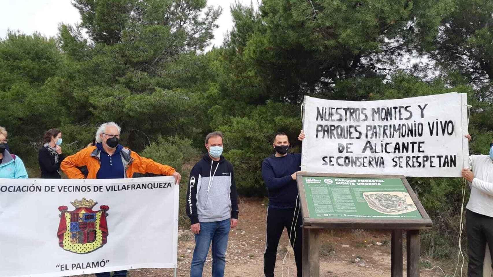 La Asociación de Vecinos de Villafranqueza defiende la conservación de los parques de la ciudad.