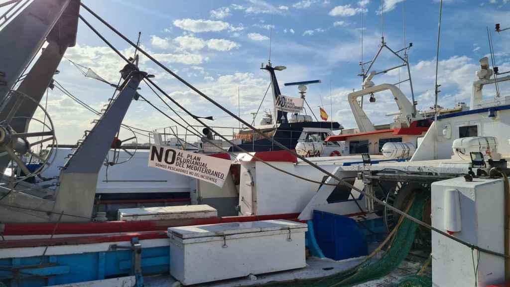 La Cofradía de Pescadores de Santa Pola ha difundido imágenes reivindicativas como ésta.
