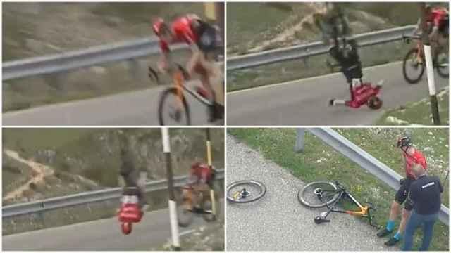 Matej Mohoric y la terrible caída que ha sufrido en el Giro de Italia