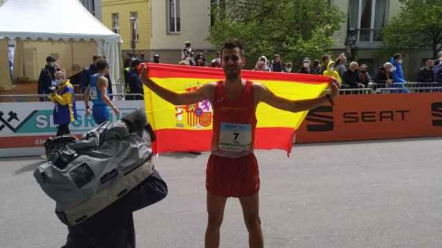 Marc Tur, en el campeonato europeo de marcha por equipos de 2021