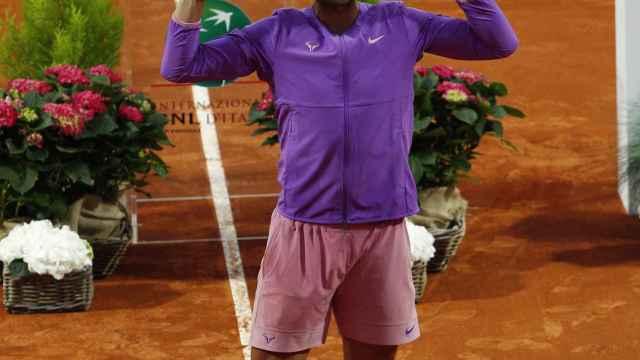 Nadal celebra su victoria en el Masters 1000 de Roma 2021