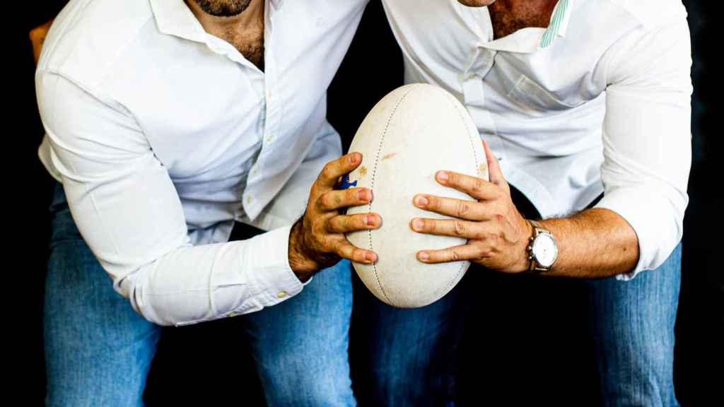 Jaime Nava y Juan Tinoco, autores de 'TEAM! Lecciones y valores del rugby para la vida'