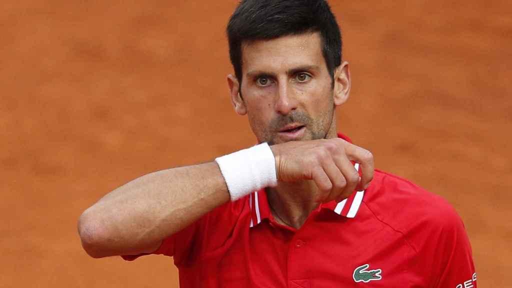 Novak Djokovic, durante la final del Masters de Roma