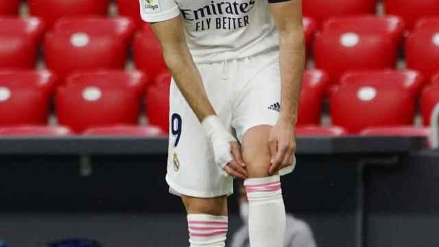 Karim Benzema, durante el partido frente al Athletic