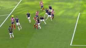 Gol anulado al Atlético de Madrid por fuera de juego