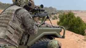 Unos militares durante unos ejercicios de entrenamiento (@COMGEMEL_ET)