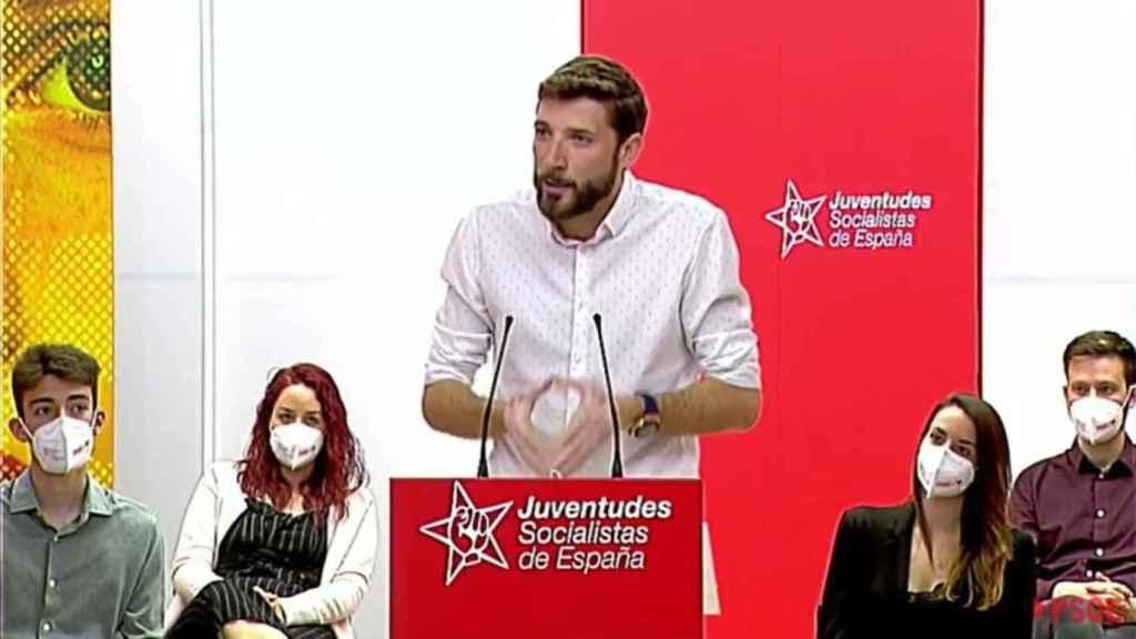 El secretario general de Juventudes Socialistas de España (JSE), el diputado Omar Anguita. EP