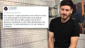 Luis Cepeda la lía en Twitter asegurando que paga un 62,5% de impuestos: Me parece un robo