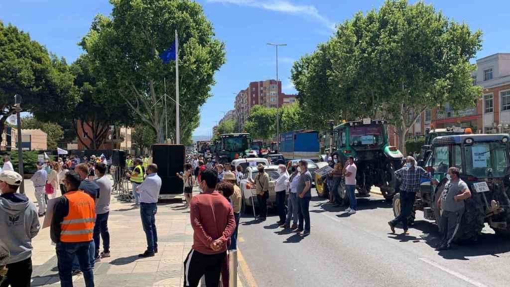 Tractorada celebrada este fin de semana en protesta a los cambios normativos en el Trasvase Tajo-Segura.