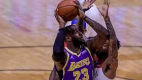 LeBron James, durante el partido frente a los New Orleans Pelicans