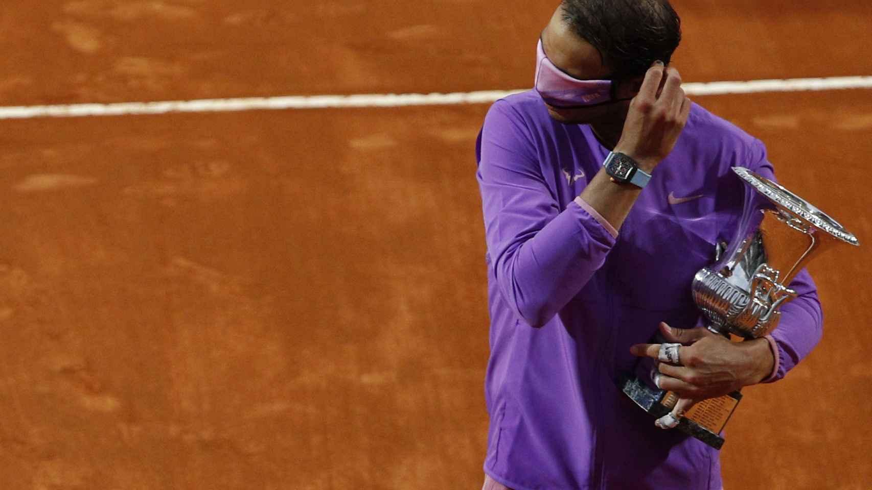 Rafa Nadal, con su décimo título del Masters 1.000 de Roma