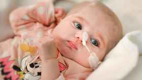 Naiara después de haber recibido el trasplante.