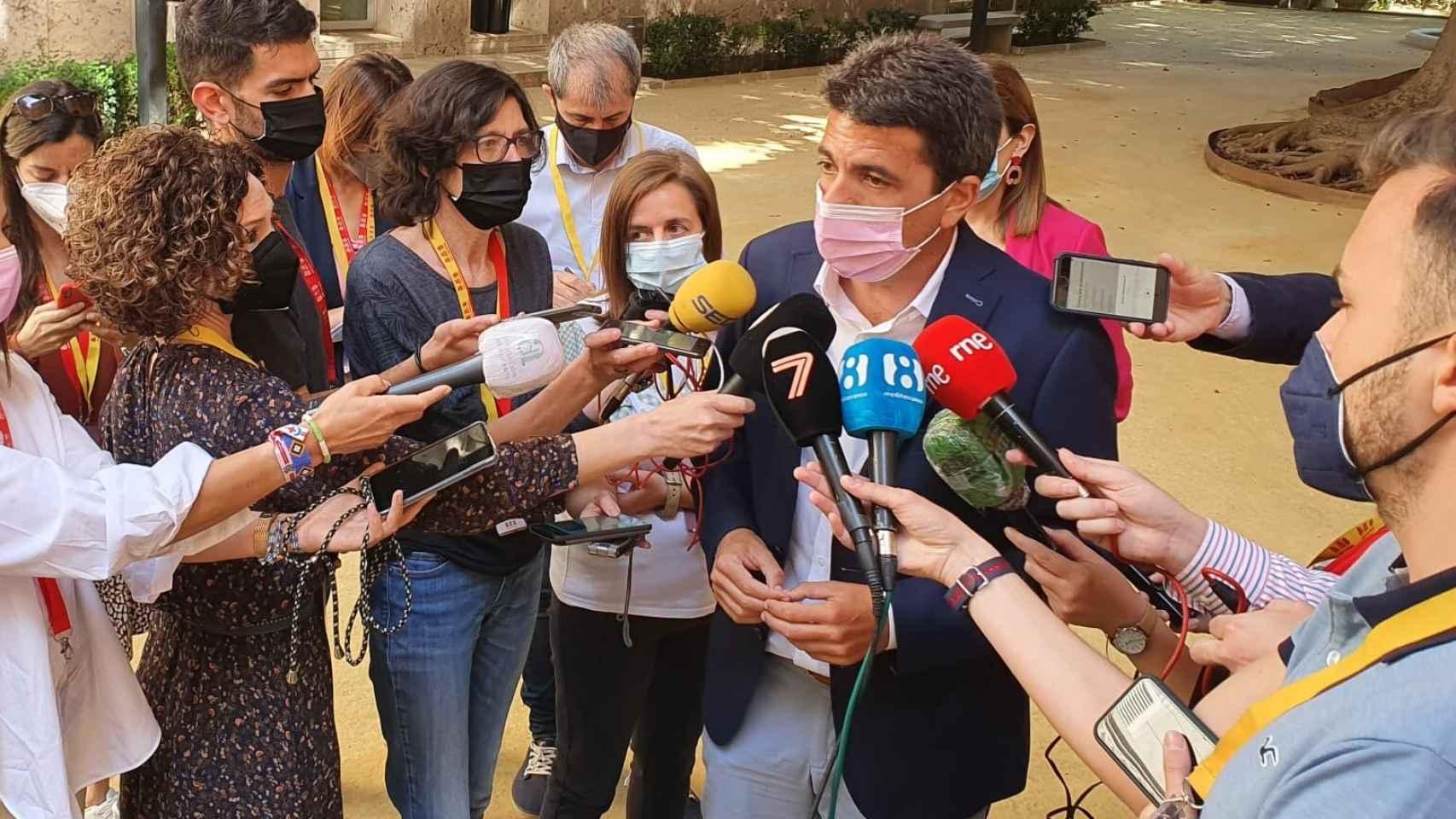 Carlos Mazón, este lunes en Valencia.