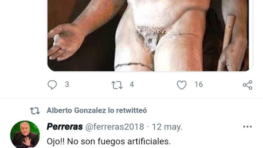 Captura de un tuit borrado de la cuenta de González.