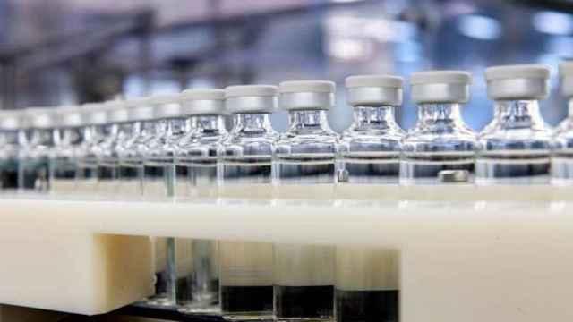 Una planta de producción de vacunas.