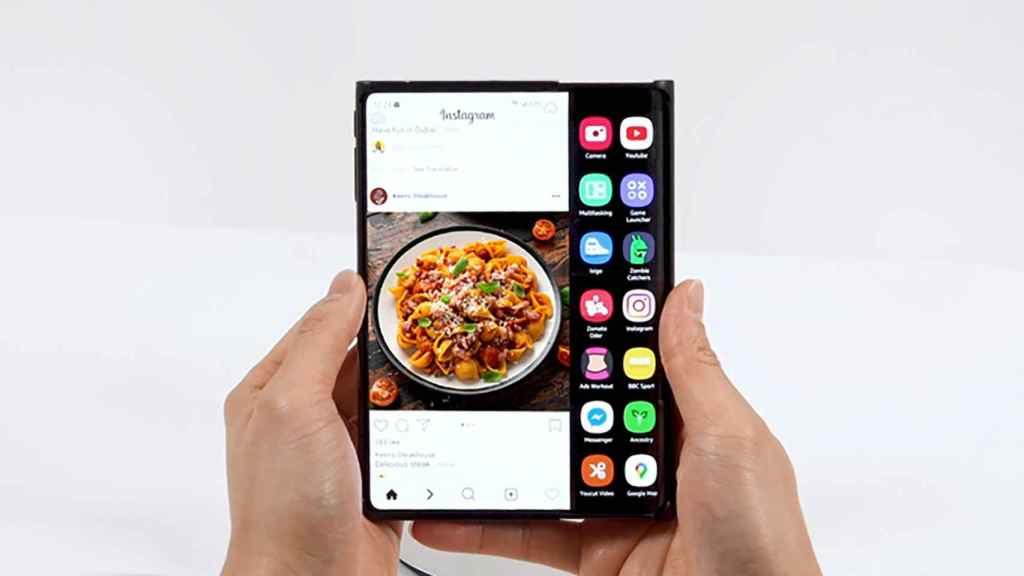 La pantalla extensible de Samsung.