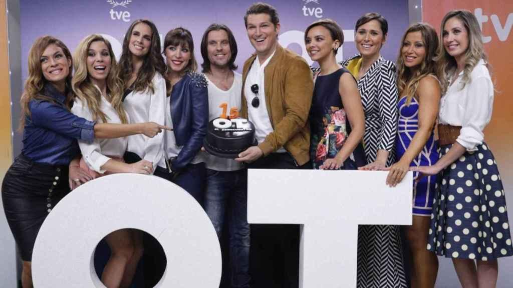 TVE celebró el reencuentro de los concursantes de la primera edición de 'OT' en 2016.
