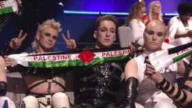 El grupo islandés Hatari mostró banderas palestinas en Eurovisión 2019.