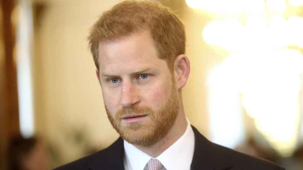 El príncipe Harry, durante un acto en Londres, en 2019.