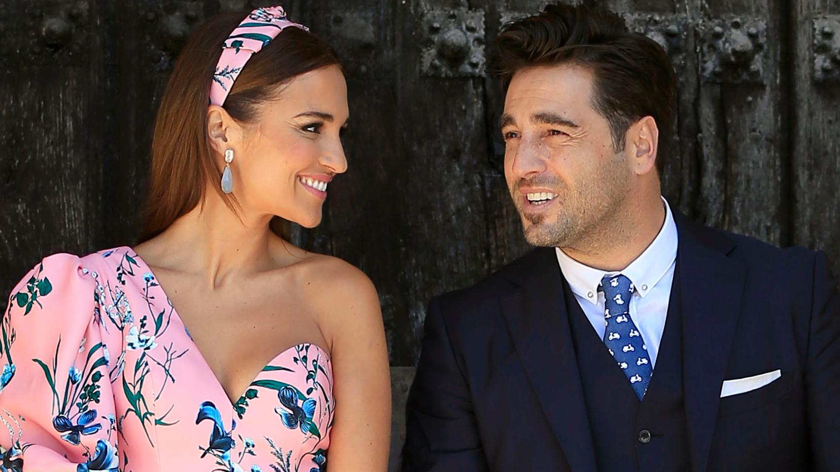 Paula Echevarría y David Bustamante, en la comunión de su hija, Daniella.