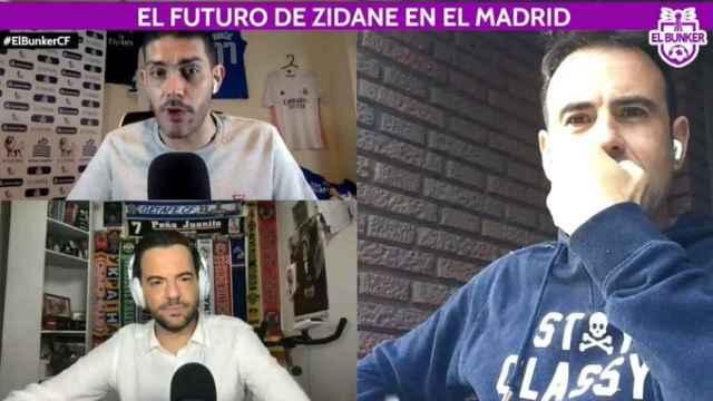 Jorge Calabrés, Felipe del Campo y Nacho Peña, en El Bunker CF