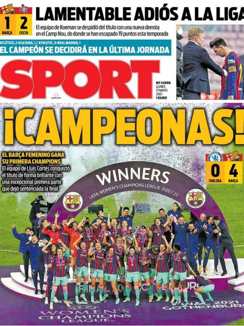 La portada del diario SPORT (17/05/2021)