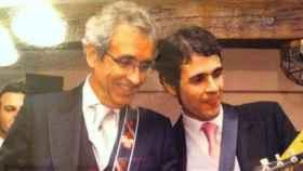 Luis Sánchez Contador en una simpática foto con su hijo Luis