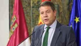 Emiliano García-Page, presidente de Castilla-La Mancha, el pasado viernes durante un discurso en el Palacio de Fuensalida