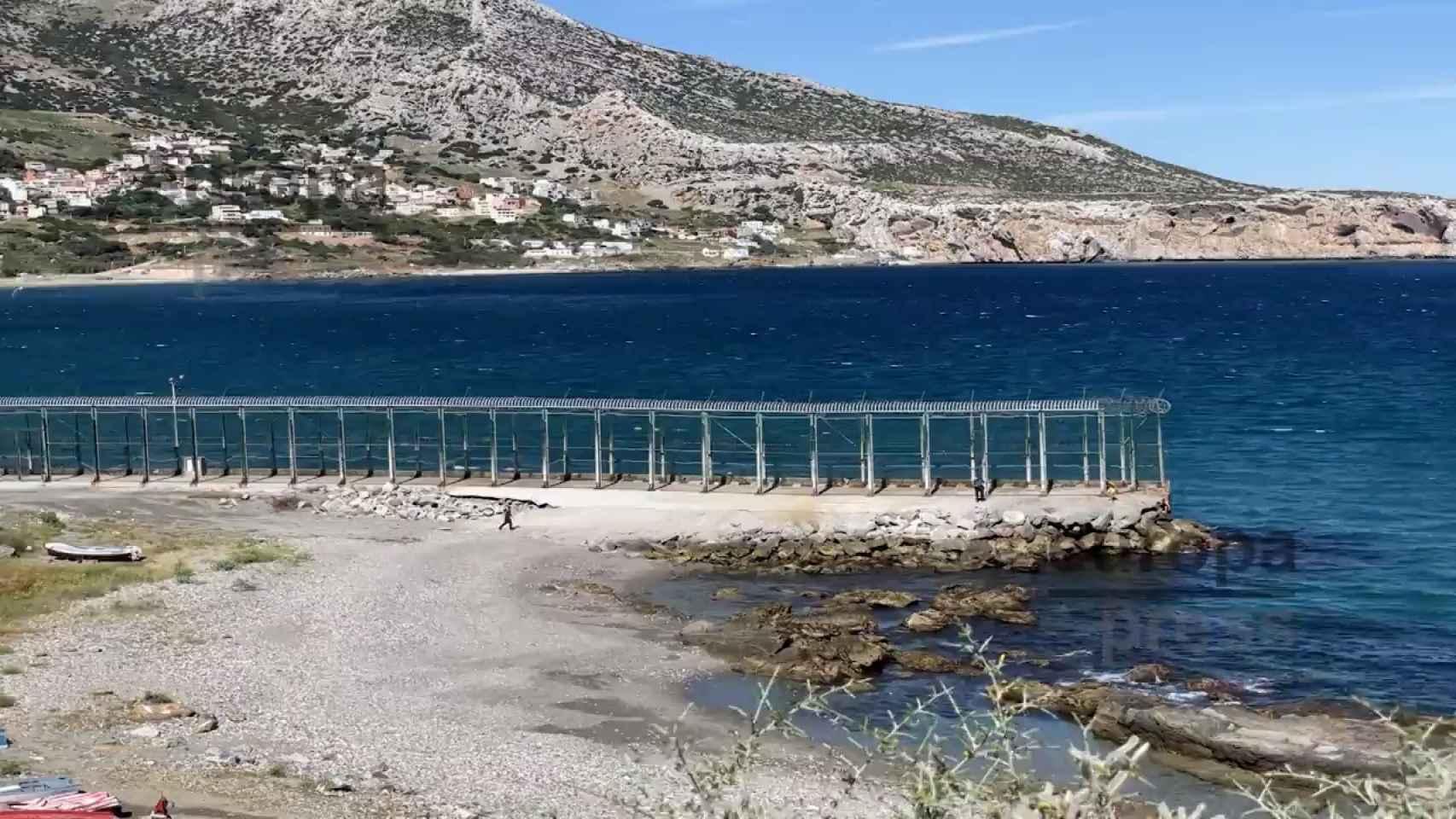 Llegada masiva de inmigrantes a las playas de Ceuta