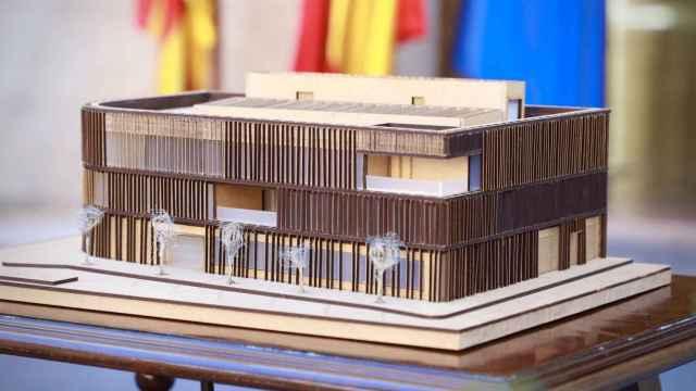 Maqueta de la futura sede del Polo Marino de Baleares.