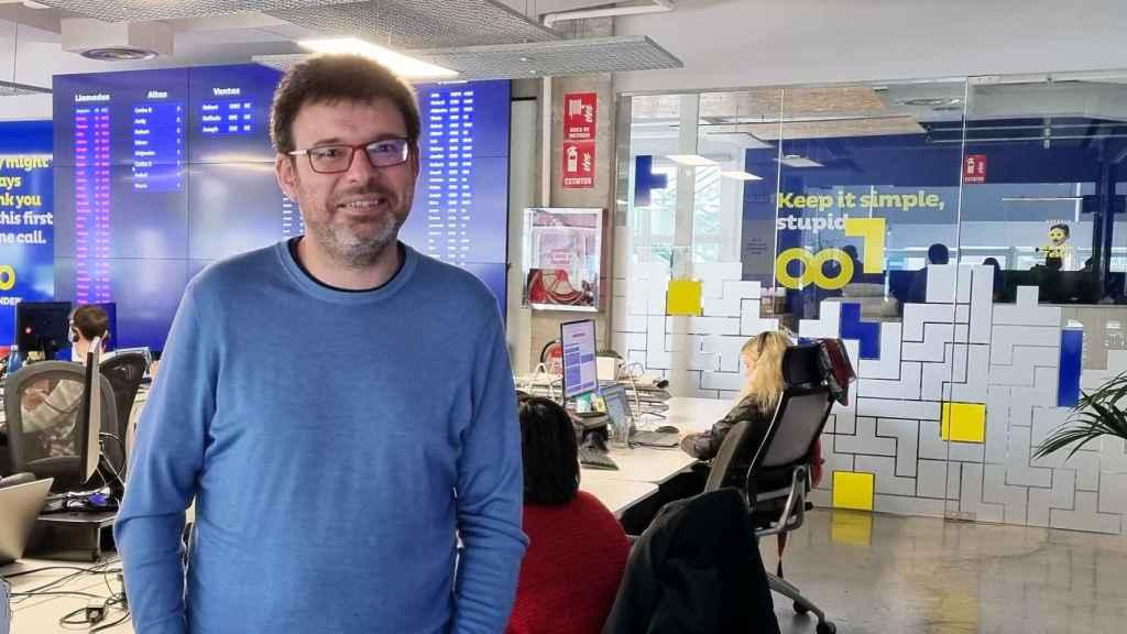 Iván Navas, CEO de Doofinder en las oficinas de la compañía en Madrid.