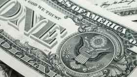 Detalle de un billete de un dólar estadounidense.