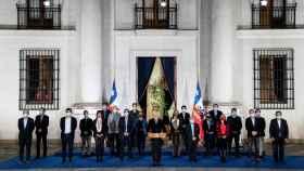 El presidente de Chile, Sebastián Piñera, en su comparecencia para valorar el resultado de las elecciones.