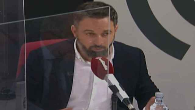 El presidente de Vox, Santiago Abascal, en esRadio.