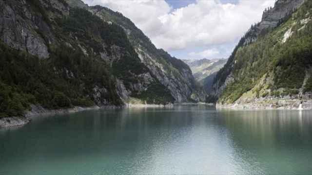 Vista general de la presa Gigerwald en Vaettis, en el cantón de San Galo