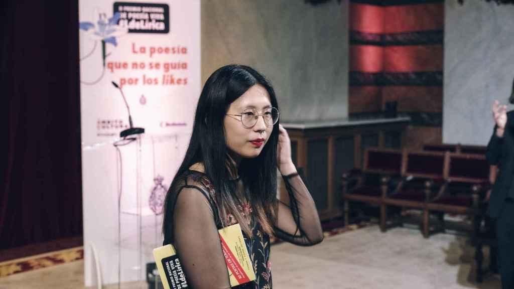 La poeta Paloma Chen, ganadora del  II Premio de Poesía Viva de 2021 en la Real Academia Española.