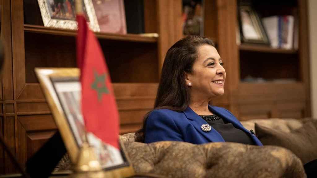 La embajadora de Marruecos en España, Karima Benyaich, en una entrevista con EL ESPAÑOL.