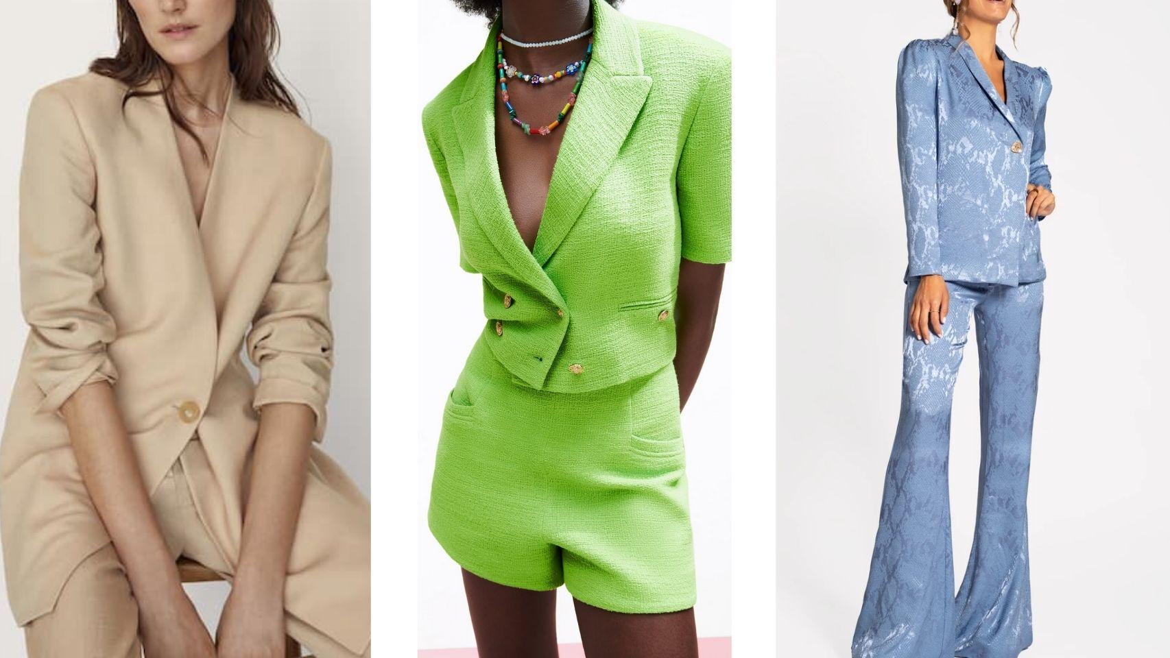 Los trajes chaqueta se posicionan como el 'look' perfecto de invitada.