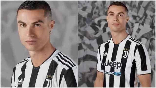 Cristiano Ronaldo presenta la nueva camiseta de la Juventus
