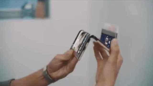 Concepto de móvil plegable de Samsung