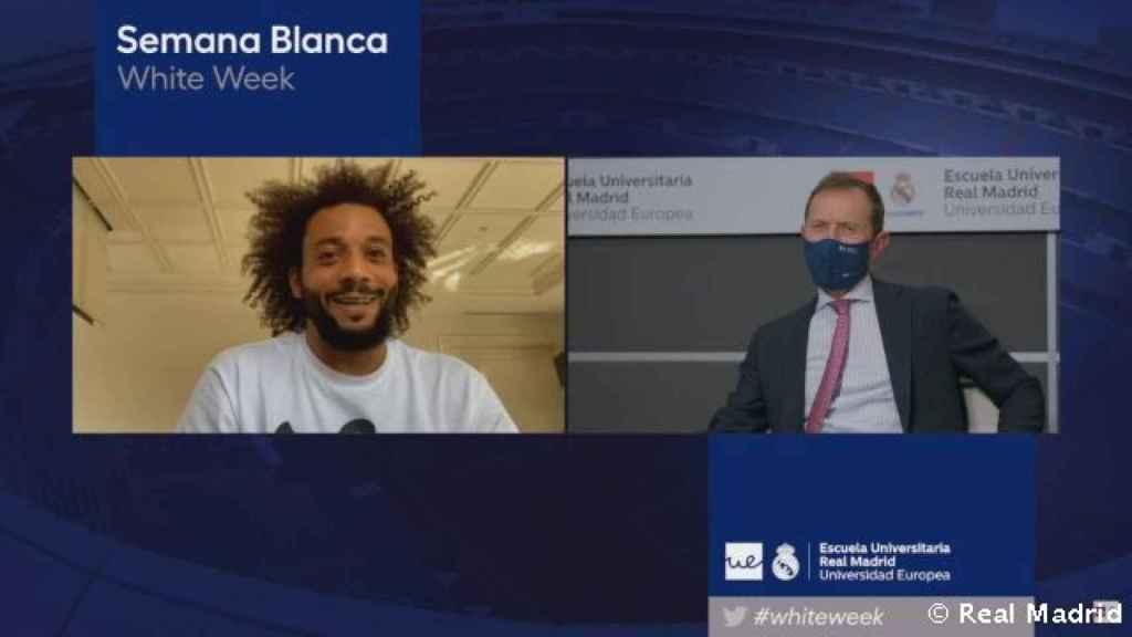 Marcelo, durante la Semana Blanca de laEscuela Universitaria Real Madrid Universidad Europea