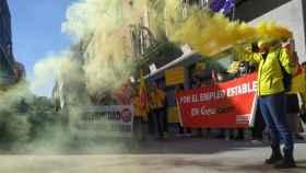 Concentración de los trabajadores de Geacam en Guadalajara