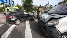 Una imagen de los momentos posteriores al accidente (Ó. HUERTAS)
