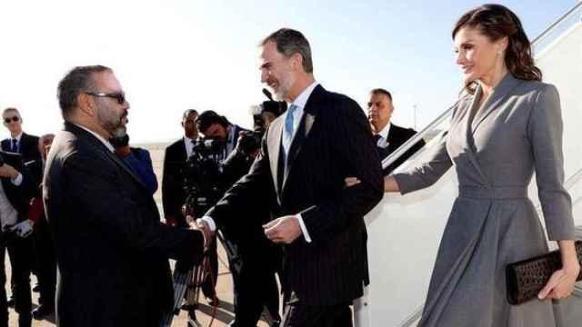 Mohamed VI recibe a los Reyes de España en Rabat, en febrero de 2019.