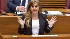 Eva Ortiz, en 'Les Corts Valencianes'. EE