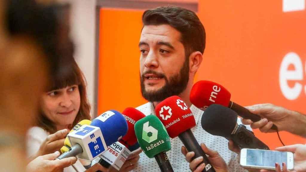 El que fuera portavoz de Ciudadanos en la Asamblea de Madrid, César Zafra. EP